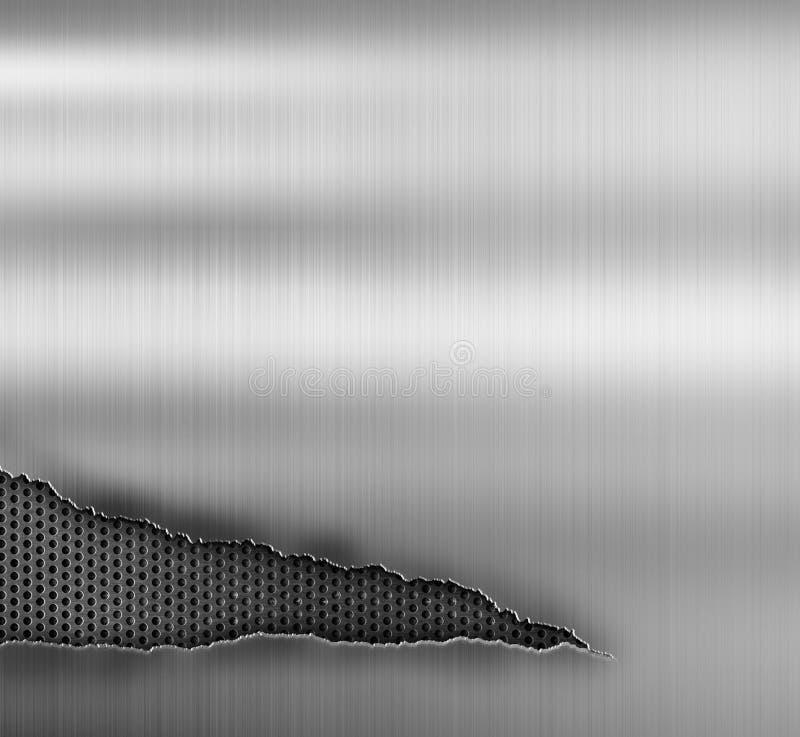 Grungemetallbakgrund med rivit sönder royaltyfria bilder