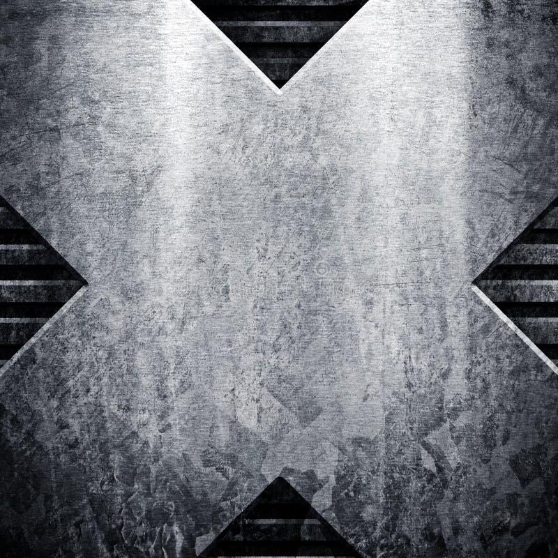 grungemetallplatta royaltyfri illustrationer