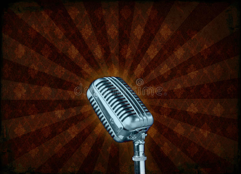 grungemikrofon arkivbilder
