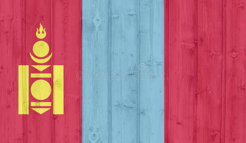 GrungeMongoliet flagga arkivbild