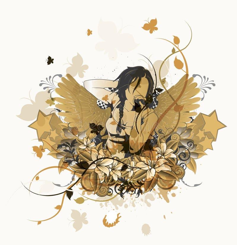 grungemusikaffisch royaltyfri illustrationer