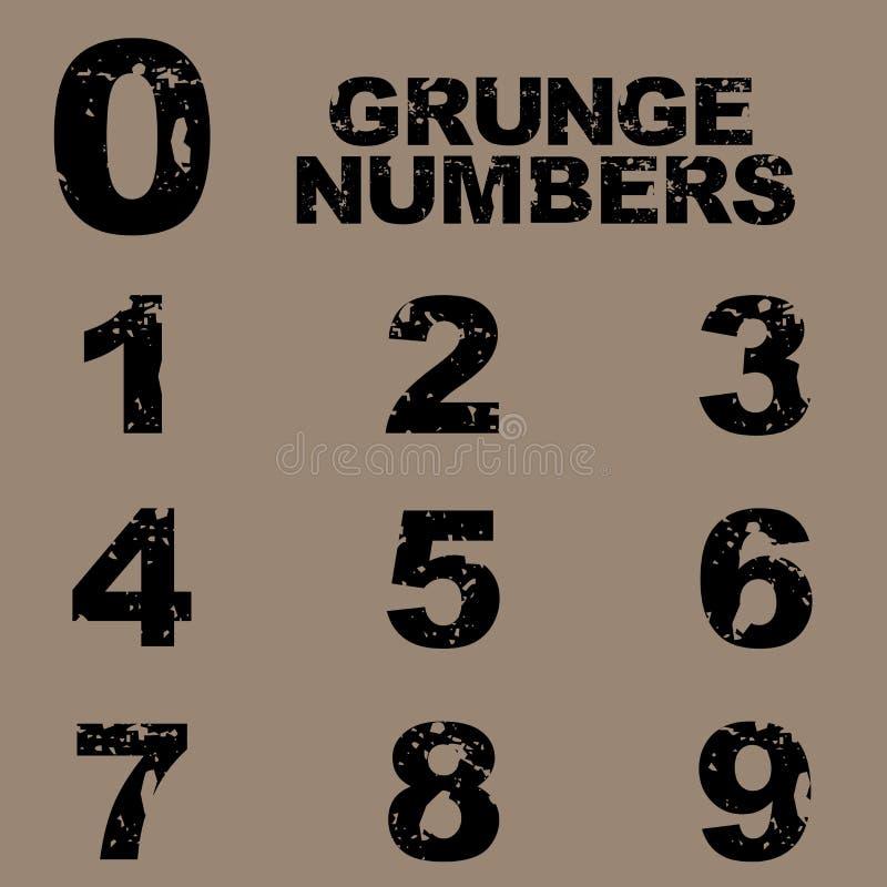 grungenummer vektor illustrationer