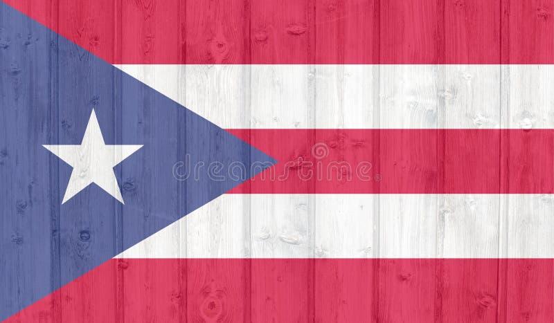GrungePuerto Rico flagga royaltyfri bild