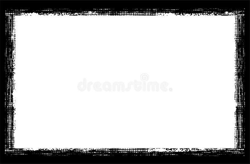 Grungeram på vit bakgrund stock illustrationer