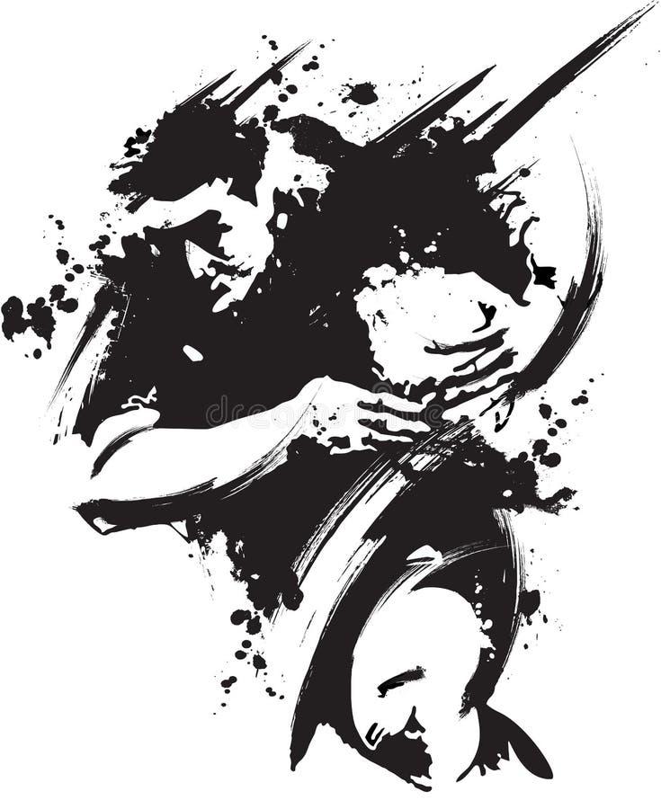 grungeruby royaltyfri illustrationer