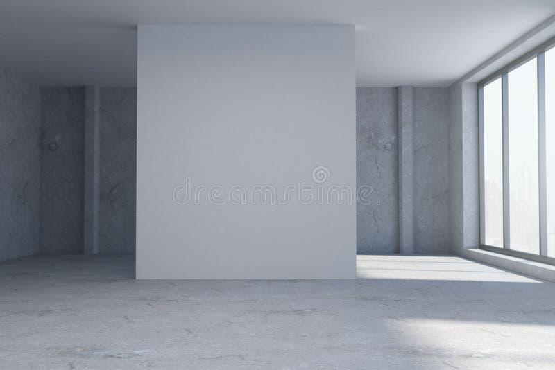 Grungerum med den tomma väggen vektor illustrationer