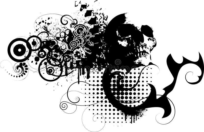 grungescull vektor illustrationer