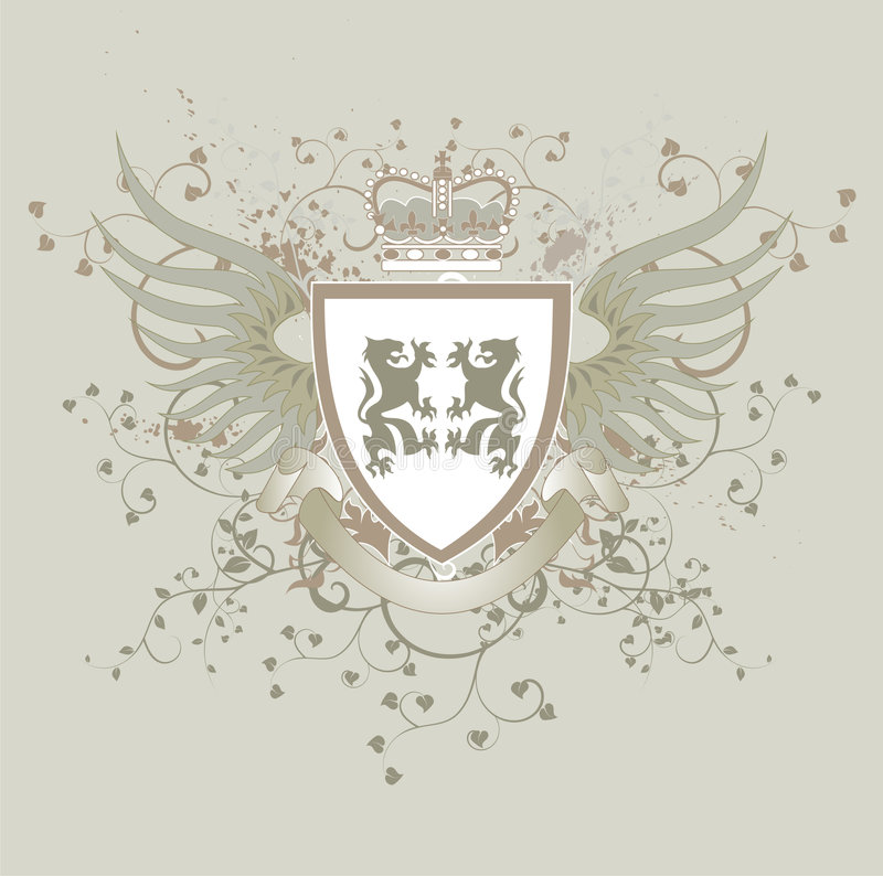 grungesköldtappning royaltyfri illustrationer