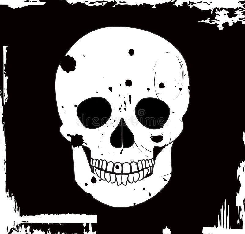 grungeskallevektor royaltyfri illustrationer