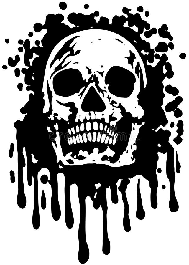 GrungeSkull illustration de vecteur