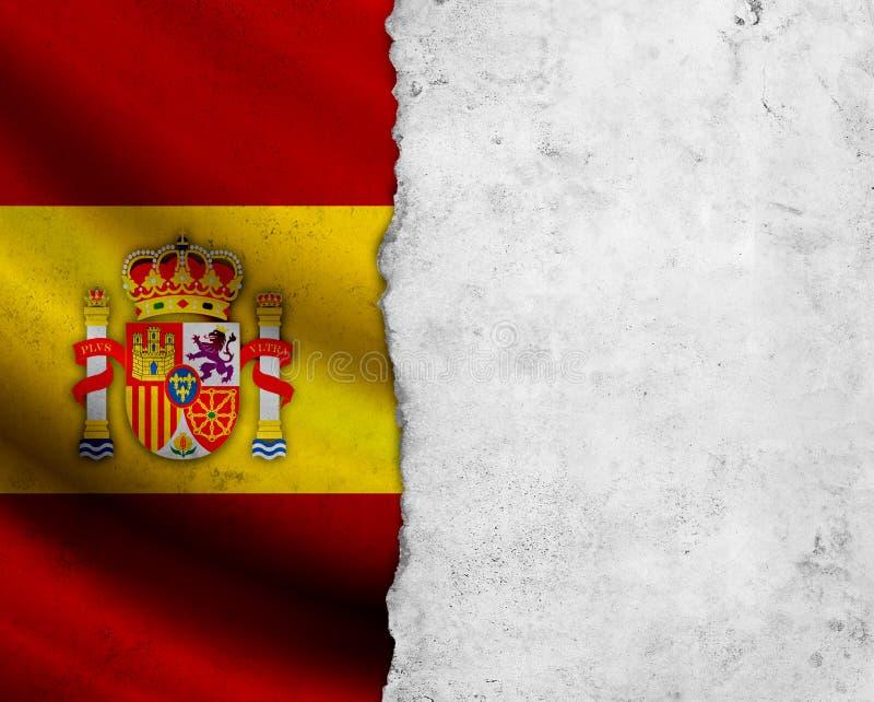 GrungeSpanien flagga arkivbilder