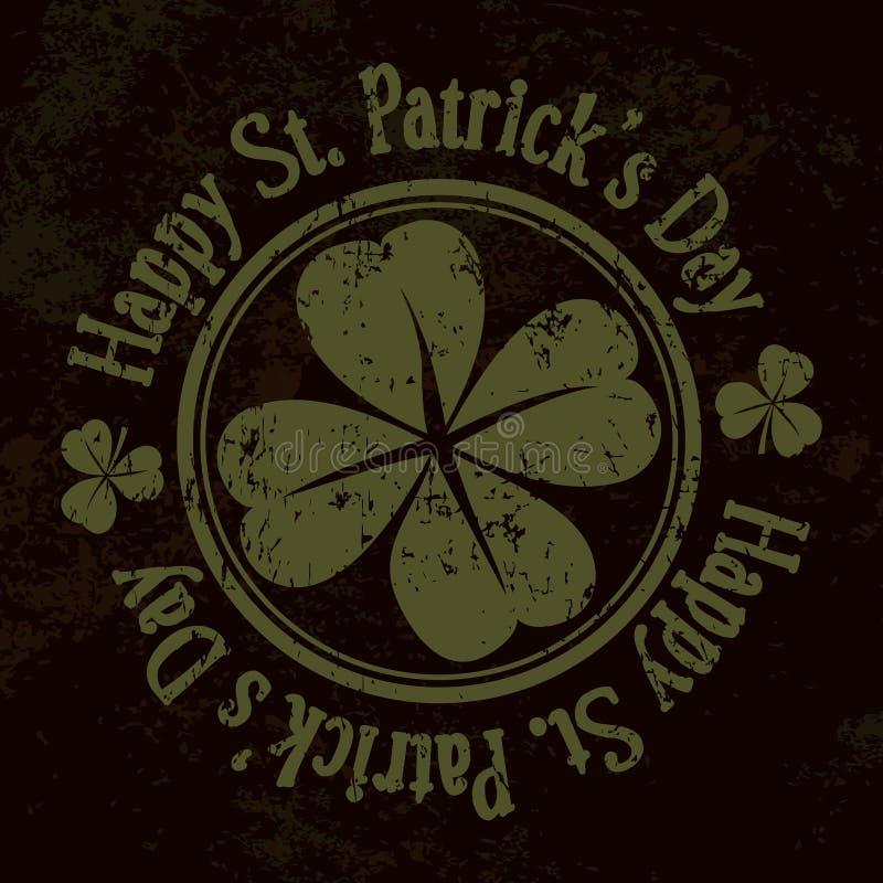 Grungest Patrick Day achtergrond, royalty-vrije illustratie