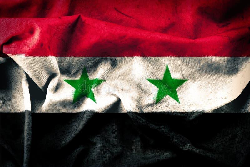 Grungestijl van de vlag van Syrië stock foto's