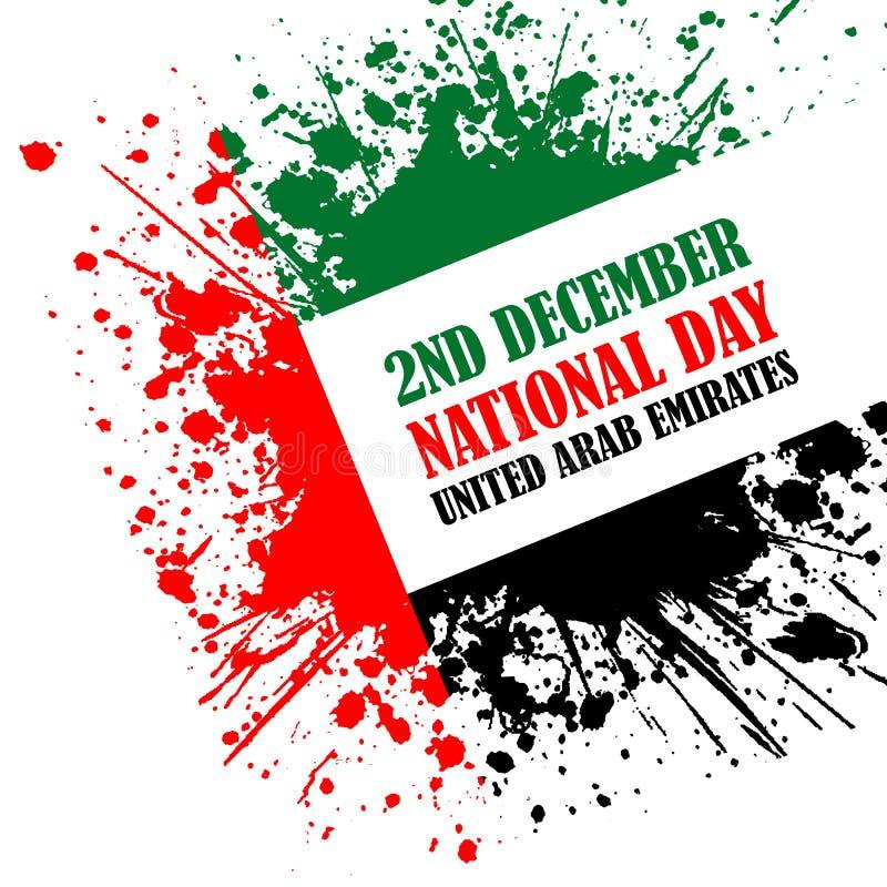 Grungestilbild för nationell dag för UAE stock illustrationer