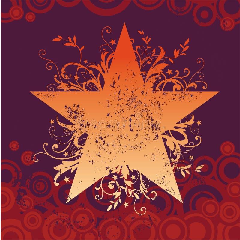grungestjärnavektor royaltyfri illustrationer