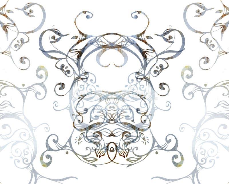 grungeswirls royaltyfri illustrationer