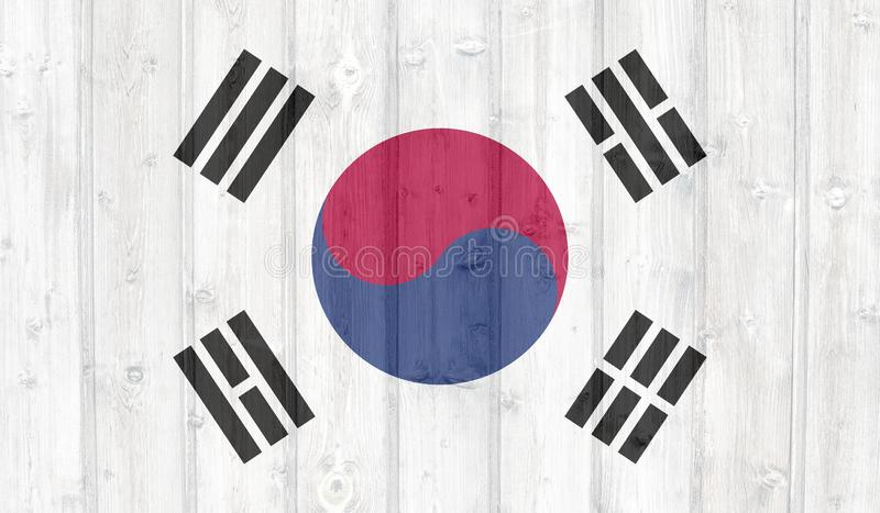 GrungeSydkorea flagga royaltyfri illustrationer