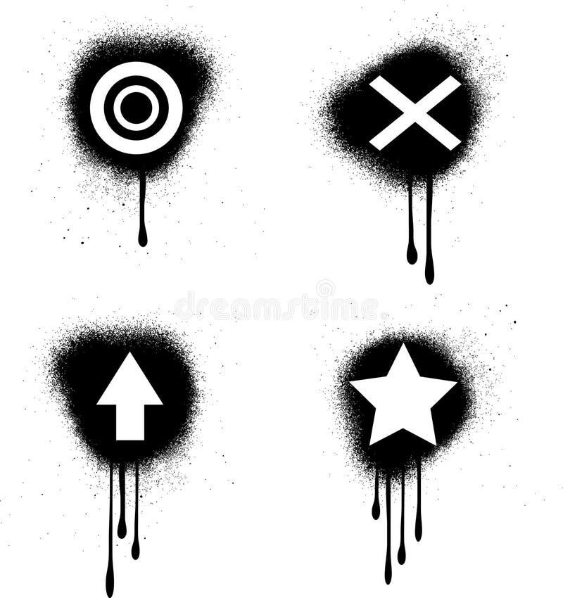 grungesymboler vektor illustrationer