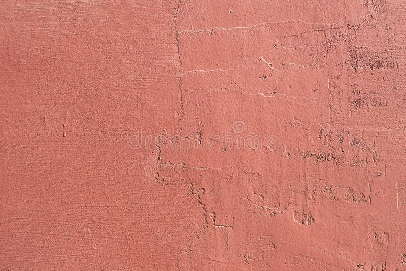 Grungetexturbakgrund av väggen i en röd signal royaltyfri fotografi