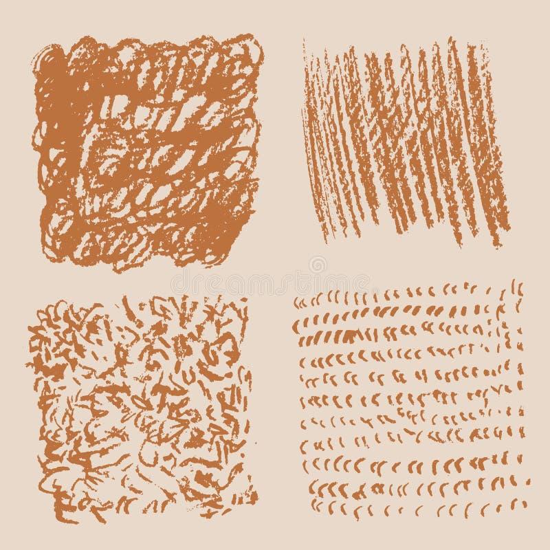 Grungetextuur - abstract voorraad vectormalplaatje stock illustratie
