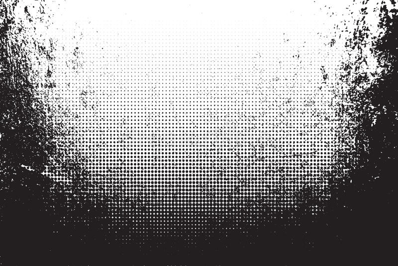 Grungetextuur met halftone Vector illustratie vector illustratie