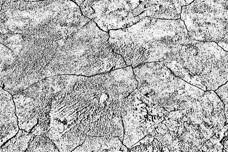 Grungetextuur van oude beschadigde muur met barsten vector illustratie
