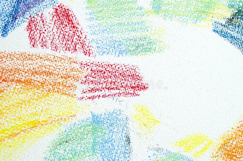 Grungetextuur van pastelkleurslagen Achtergrond van kleurpotloden de abstracte grunge Het element van het kaderontwerp De element vector illustratie