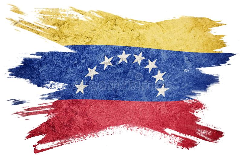 GrungeVenezuela flagga Venezuela flagga med grungetextur _ stock illustrationer