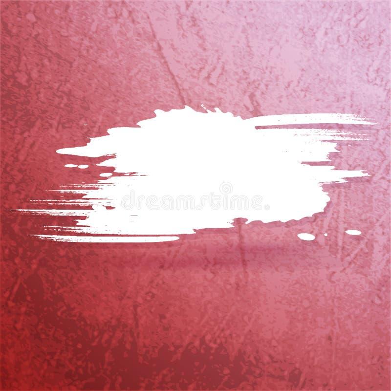 Grungevinrankabakgrund med färgstänkbanret vektor illustrationer