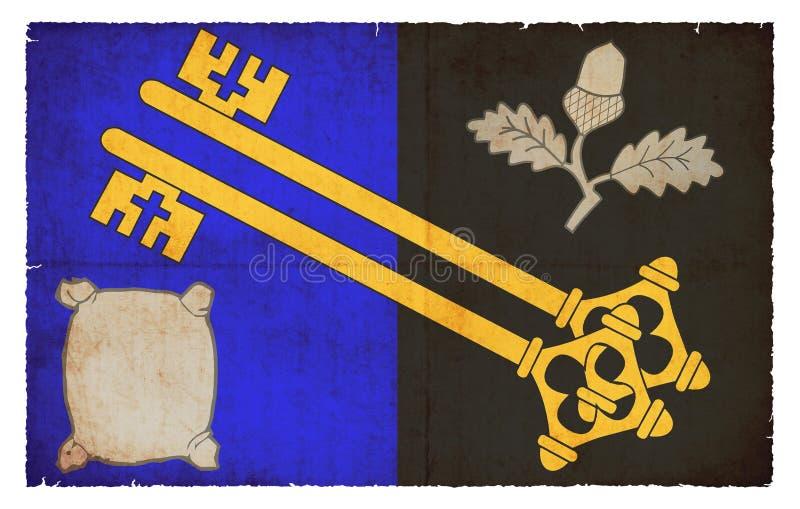 Grungevlag van Surrey Groot-Brittannië vector illustratie