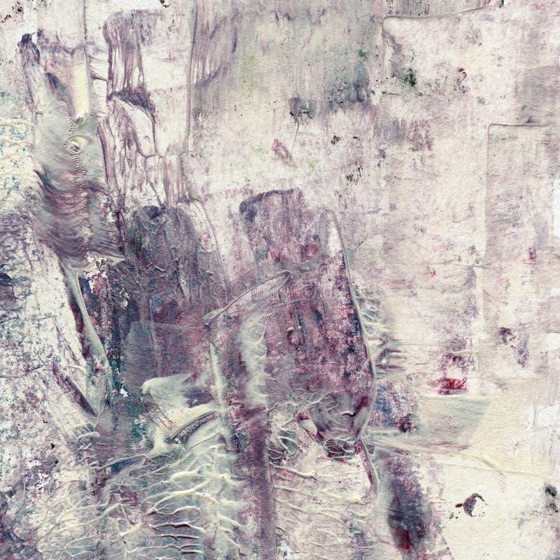Grungewaterverf het acryl schilderen Abstracte bruin stock afbeelding