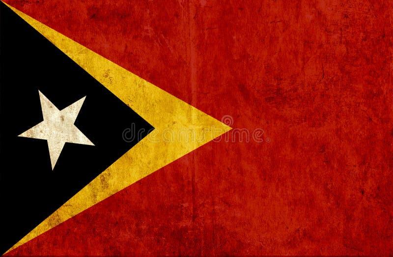 Grungy бумажный флаг Восточного Тимора иллюстрация вектора
