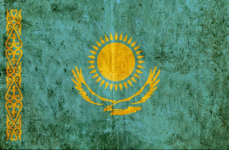 Grungy бумажный флаг Казахстана иллюстрация штока