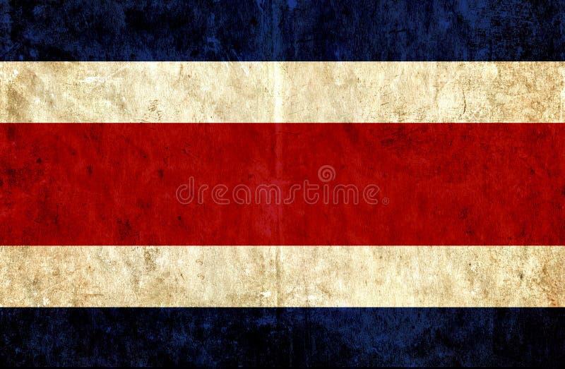 Grungy бумажный флаг Коста-Рика бесплатная иллюстрация
