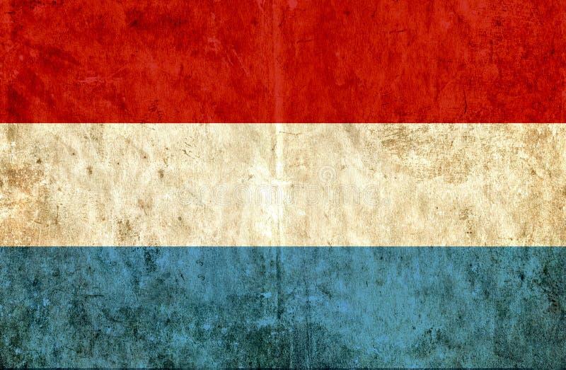 Grungy бумажный флаг Люксембурга иллюстрация вектора