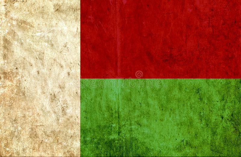 Grungy бумажный флаг Мадагаскара иллюстрация штока