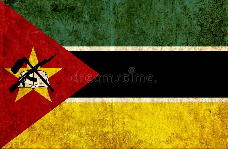 Grungy бумажный флаг Мозамбика иллюстрация вектора