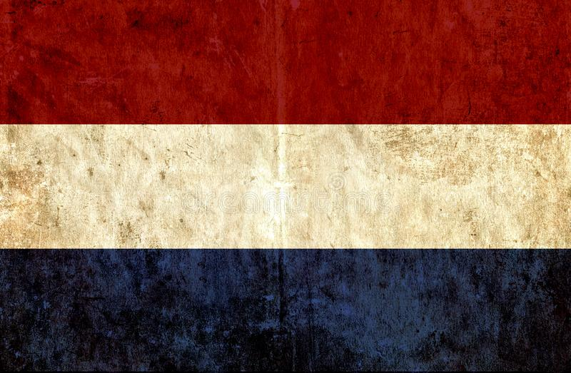 Grungy бумажный флаг Нидерланд бесплатная иллюстрация
