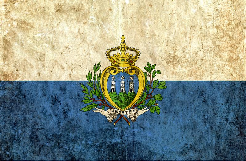 Grungy бумажный флаг Сан-Марино иллюстрация штока