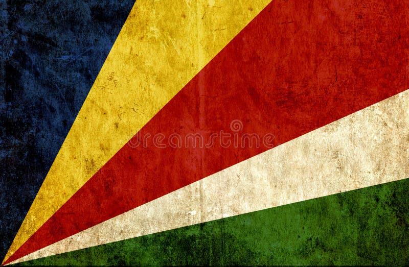 Grungy бумажный флаг Сейшельских островов бесплатная иллюстрация