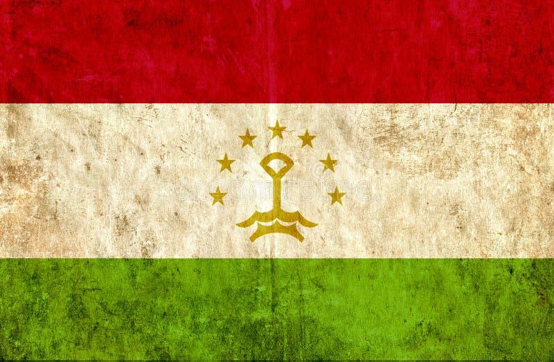 Grungy бумажный флаг Таджикистана иллюстрация штока
