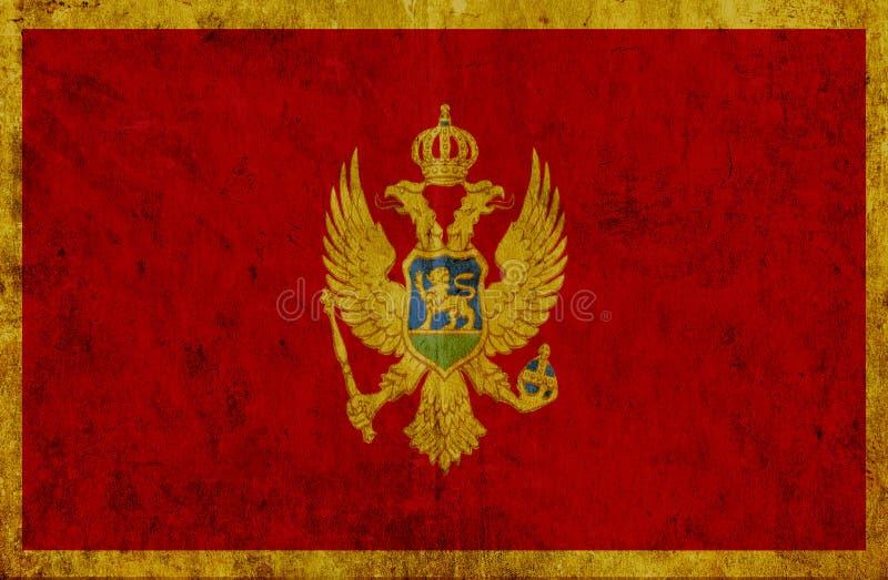 Grungy бумажный флаг Черногории бесплатная иллюстрация