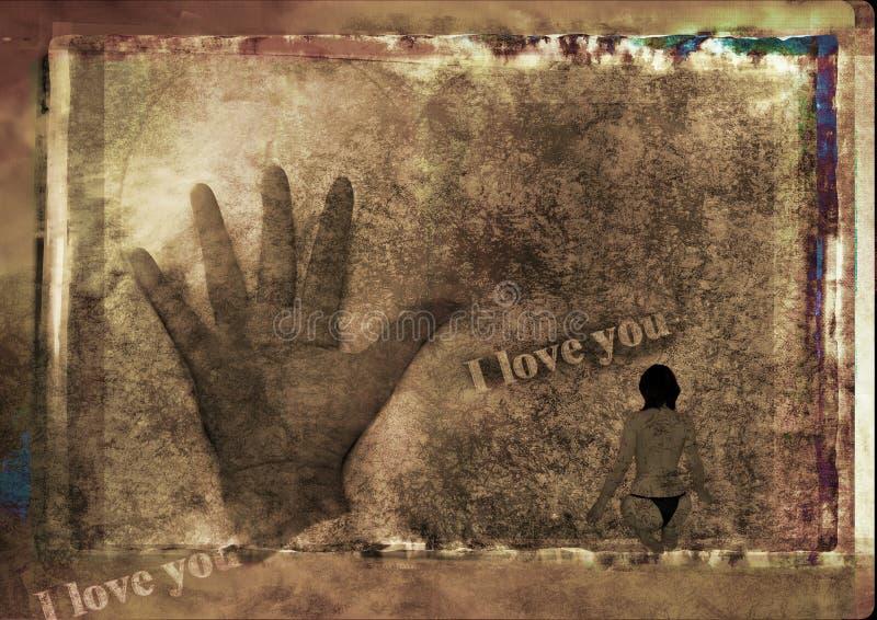 grungy влюбленность бесплатная иллюстрация