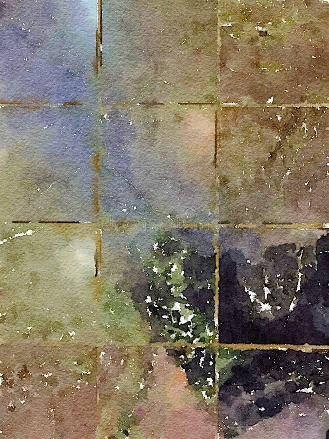Grungy деревенская акварель текстуры предпосылки плитки бесплатная иллюстрация