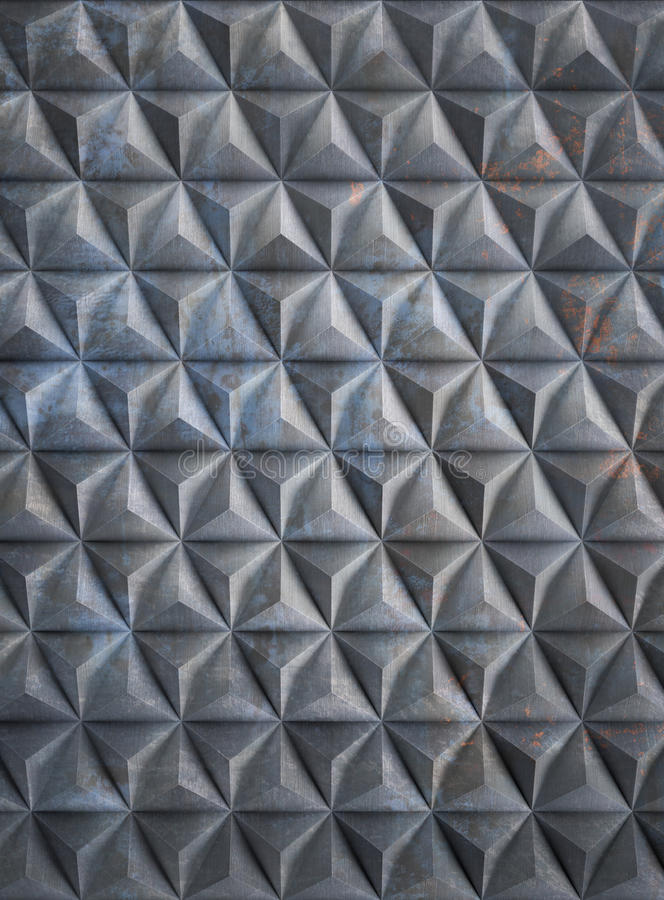 Grungy запятнанная алюминиевая предпосылка иллюстрация вектора