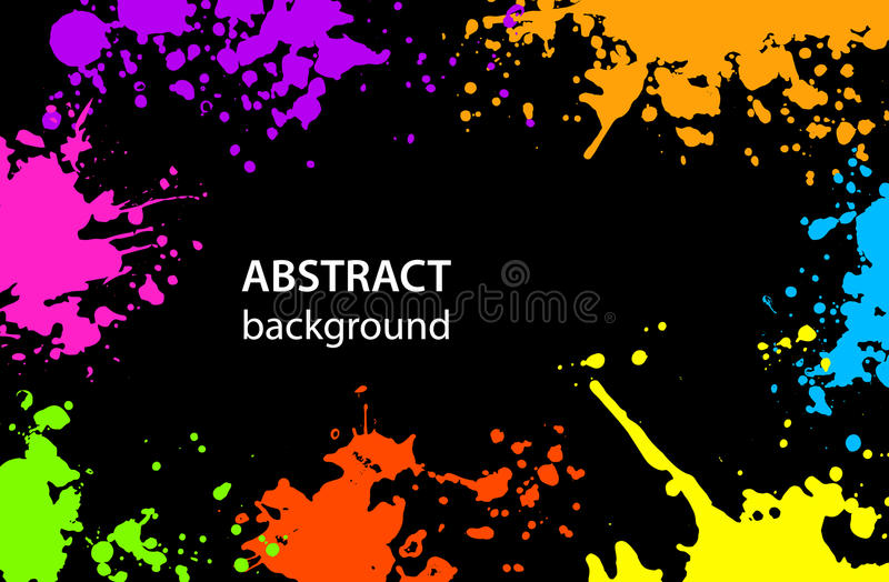Grungy abstract Paint Splatter Blots background royalty free illustration