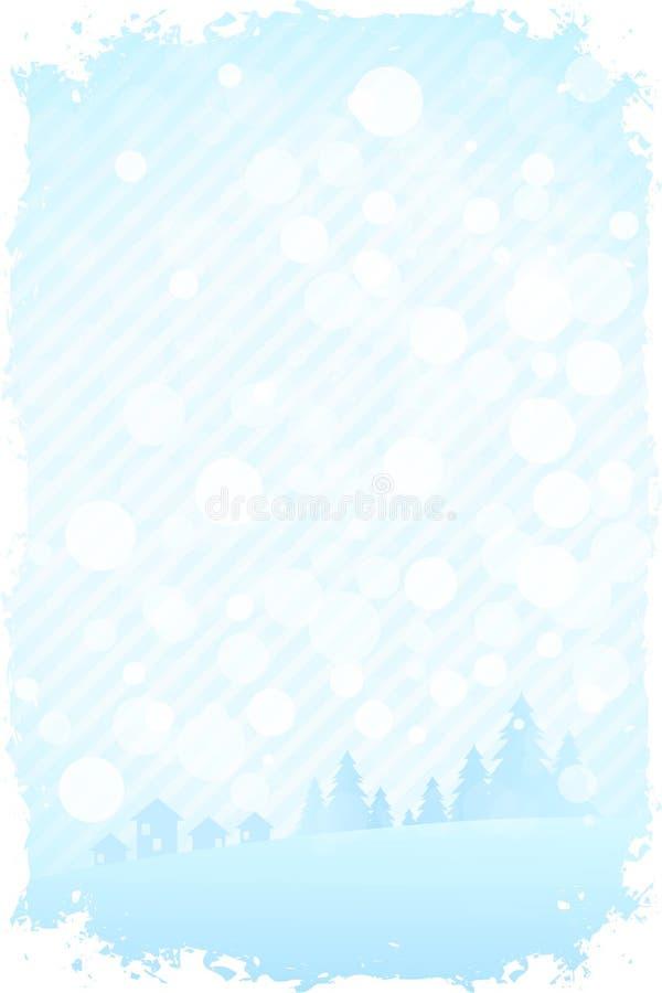 Grungy Achtergrond van de Winter stock illustratie