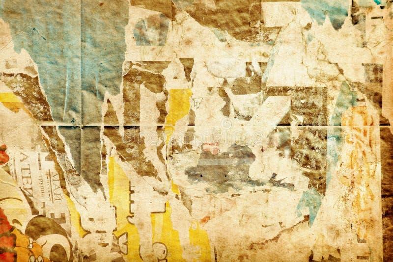 Grungy alte Papieranzeigenbeschaffenheit stock abbildung