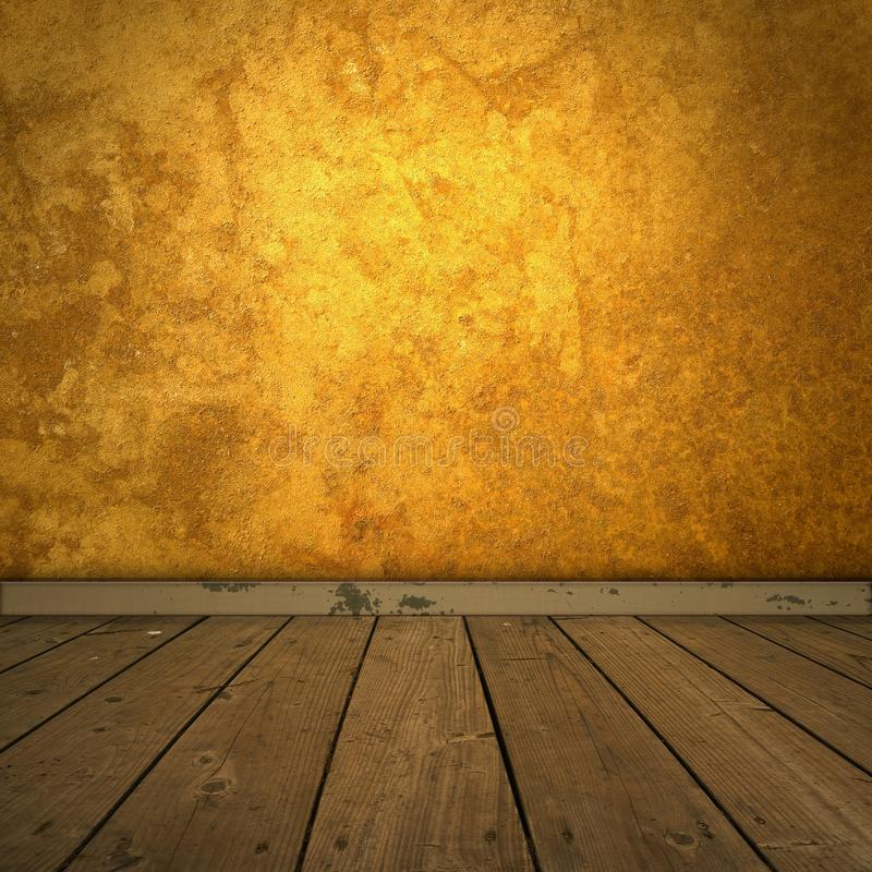 Download Grungy Amber Room With Spotlight Stock Photo - Image: 9862910