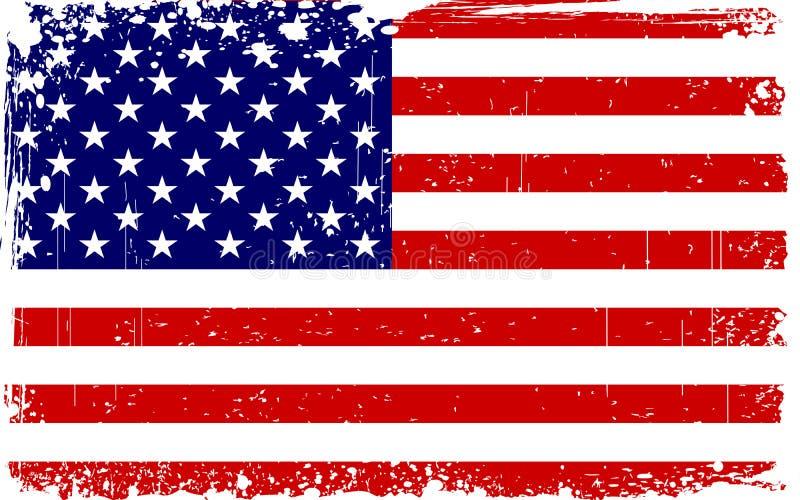 grungy amerikanska flaggan vektor illustrationer
